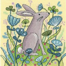HERITAGE CRAFTS HARE COUNTED CROSS STITCH KIT WOODLAND CREATURES COLLECTION NEW