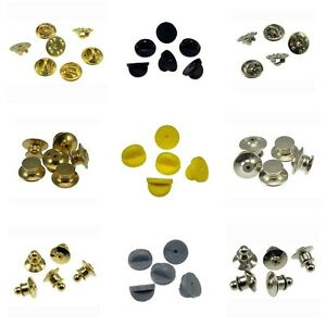 10-150 Rubber Locking Butterfly Lapel Pin Backs Clasp Clutches Guards Attachment