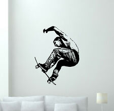 Skateboarder Wall Decal Extreme Sport Vinyl Sticker Gym Decor Art Mural 60hor