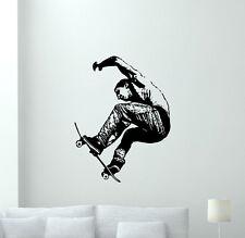 Skateboarder Wall Decal Extreme Sport Vinyl Sticker Gym Decor Art Mural 60hor