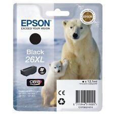 Epson 26XL Noir Cartouche d'encre d'orgine (C13T26214012) XP-600, XP-605, XP-700
