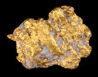 Matrix Specimen Genuine Calif. Alaska Natural Gold Nugget 2.19gr 11.69mm x 9.65m