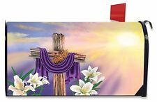 Easter Cross Magnetic Mailbox Cover Lilies Holiday Briarwood Lane Standard