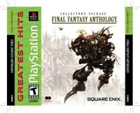 PLAYSTATION 1 PS1 VIDEO GAME FINAL FANTASY ANTHOLOGY BRAND NEW AND SEALED