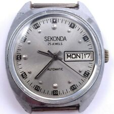 Russian Modern SEKONDA AUTOMATIC Watch Day&Date Serviced VGC *US SELLER* #784