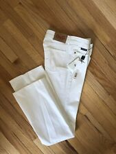 D&G Dolce And Gabbana Icon Woman White Jeans! Size 27 New With Tags!