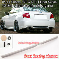 TS Style Rear Trunk Lip Spoiler (FRP) Fits 08-14 Subaru Impreza WRX STi 4dr