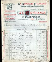 """DIJON (21) USINE de BRODERIE """"A L'ESPERANCE / P. GRANDPERRIER"""" en 1915"""