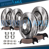 Front & Rear Rotors + Ceramic Pads w/Hardware 2004 2005 Mazda 3 - 2.0L Models