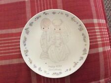 Precious Moments Happy 40th Anniversary Plate By Sam Butcher