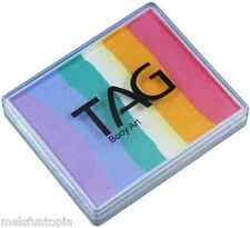 TAG Body Art 50g Rainbow Cake - Fairy Floss, Face and Body Paint, Make-up, Party