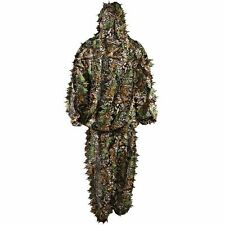 New Ghillie Bionic Suit Woodland Camouflage Jungle Hunting 3D Leafy Camo