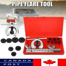 Flaring Tool 9PCS Kit Tube Repair Flare Includes Clamp Spreader Dies