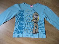T-shirt fille en TBE avec motif - 9/10 ans
