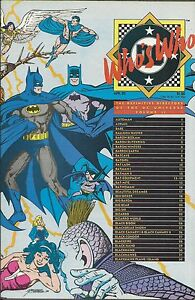 Who's Who Comic Volume 2 Definitive Directory Copper Age First Print DC .