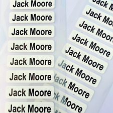 50 PERSONALISED IRON ON NAME CLOTHING LABELS SCHOOL UNIFORM CARE HOME TAGS