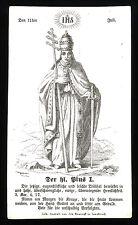 Santino Gravur 1800 s.Pio ich Papst