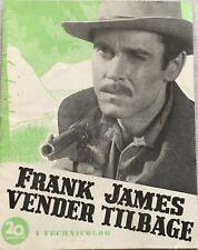 The Return Of Frank James Henry Fonda Gene T Vintage 1940 Danish Movie Program