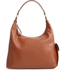 NWT Longchamp Le Foulonne Leather Hobo Shoulder Bag Caramel Brown $600 AUTHENTIC