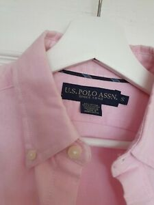 US Polo Assn Mens Shirt Small Pink
