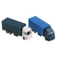 2x 1: 100 peint camion de conteneur de construction de véhicules de