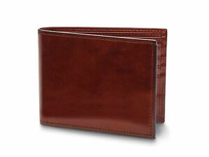 Bosca Old Leather Bifold Wallet With Card / I.D. Flap Dark Brown
