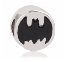 NEW Silver Batman Superhero Charm Necklace Bracelet Pendant DIY Jewelry Bead