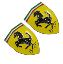 2pcs metal car Emblem badge logo Decal Chrome stickers fit for Ferrari