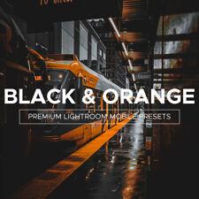 Negro y Naranja, 4 Presets Premium Lightroom móvil