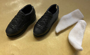 Quality Dolls Black Lace Formal Shoes Boots With Socks Made For Barbie Uk Seller