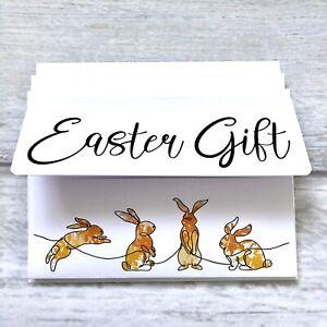 Happy Easter Hug Money Wallet Pack Of 3 Gift Cards (blank Inside) Lockdown