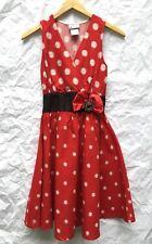 Disney Minnie Mouse Dress Size XS Red White Polka Dot Halloween Costume Cosplay