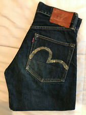 "EVISU Selvedge Denim jeans Made in Japan size 26""W x 25""L"