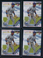 Lot of (4) WANDER FRANCO 2019 Bowman Draft Paper Tampa Bay Rays Rookie Card RC