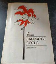 More details for cambridge footlights revue souvenir programme