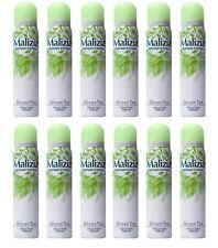 12pz MALIZIA GREEN TEA deodorante corpo spray 100ml NUOVO ORIGINALE deo donna