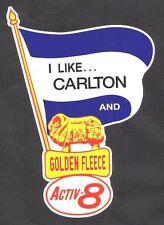 CARLTON & GOLDEN FLEECE Vinyl Decal Sticker PETROL PROMO OILS afl vfl THE BLUES