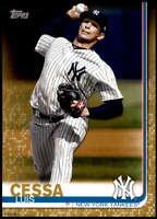 Luis Cessa 2019 Topps Update 5x7 Gold #US286 /10 Yankees