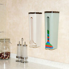 Plastic Kitchen Home Grocery Bag Holder Wall Mount Storage Dispenser Tools