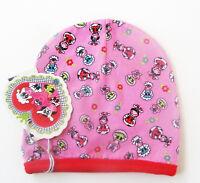Mütze Gr.41 /43 /45 Puk Design NEU zweilagig rosa rot Bauernhof haube baby