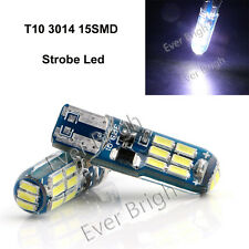 10Pcs T10 W5W 194 168 15SMD 3014 LED SILICA LED Strobe Led Cool White Led Light