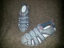 GEOX Sport Sandals-Gray Leather and Nylon-Women's Size 8-EXCELLENT-No Wear