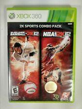 2K Sports Combo Pack: Major League Baseball 2K12/NBA 2K12 Xbox 360 (Complete)