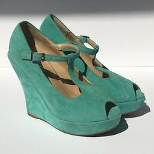 Wedge with Peep toe Delicacy Erika Mint color size 6