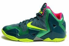 Nike Lebron XI Shoes Youth/Men Sz 6.5 Womens Sz 8 Dark Sea/Volt/Gamma 621712 300