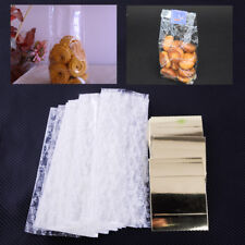 50 x Gold Cellophane With Gusset Wedding Xmas Favor Biscuit Cupcake Party Bags