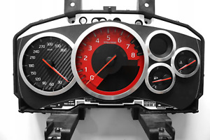 R35 GT-R Gauge Cluster Speedometer replacement face red NISMO KMH MPH conversion