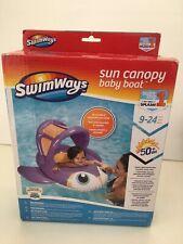 SwimWays Inflatable Shark Sun Canopy Baby Boat New