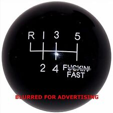 Black F-in Fast -L 6 Speed Shift Knob for 2014 15 16 Hyundai Veloster Turbo
