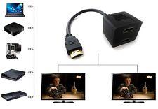 Cable Adaptador Video HDMI-Macho a 2x HDMI-Hembra - Cable Duplicador Monitor